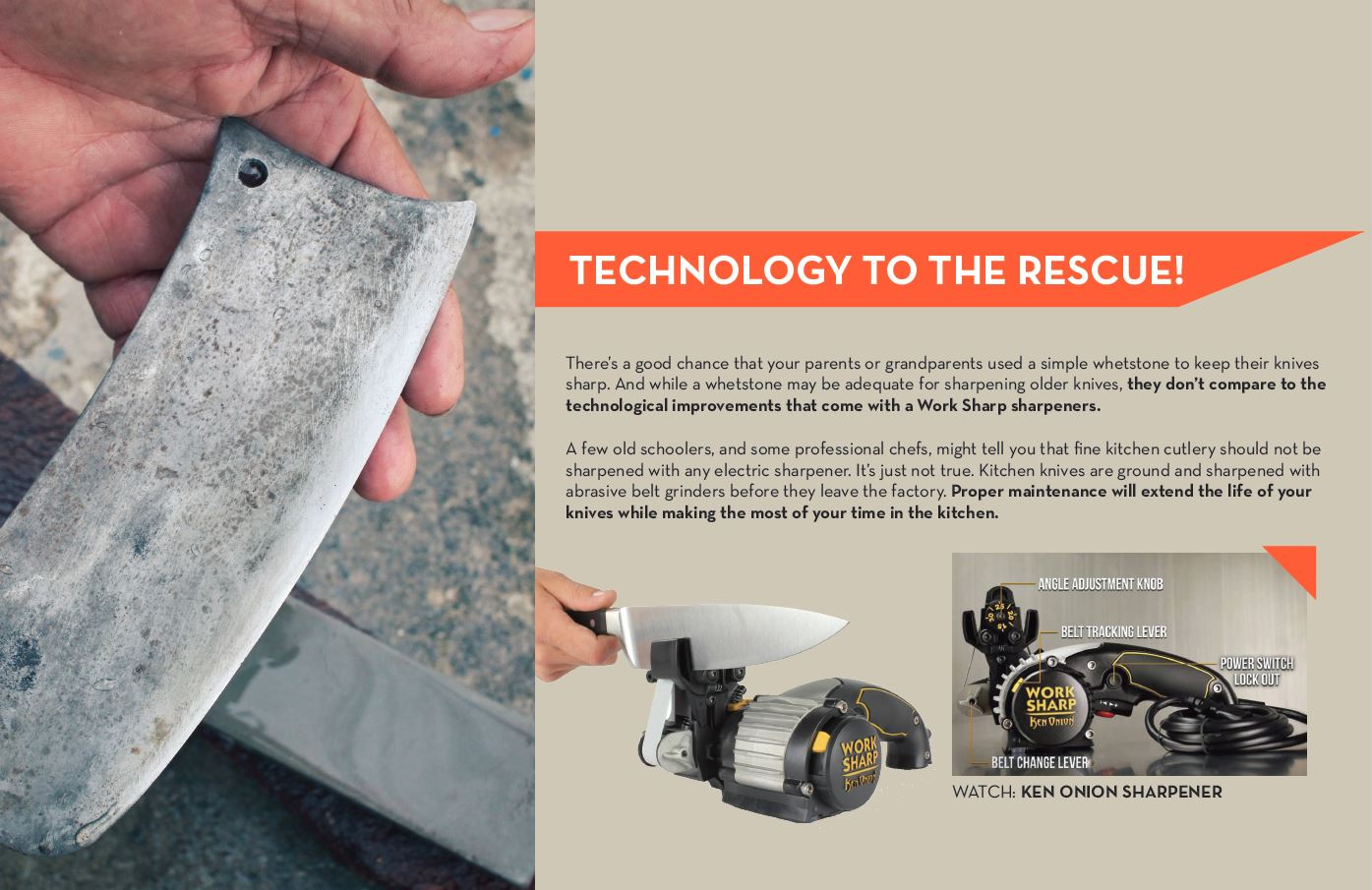Sharpening Technology To The Rescue!